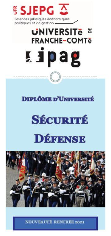 Plaquette DU Sécurité Défense