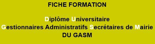 Fiche formation DU GASM